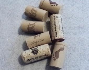 Wine Corks Supplies, Destash Supplies, Craft Supplies, Wine, Cork, Winery Supplies, Recycled, Recycled Supplies - Set of 7