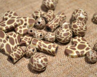 36pcs Polymer Clay Polyclay Bead 5 22mm Multicolored Giraffe