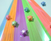 Glossy Pearl Spring Shower Origami Lucky Star Paper Strips - pack of 80 strips