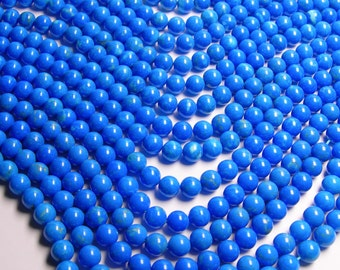 Howlite turquoise - 10mm round beads -1 full strand - 40 beads - A quality - RFG271