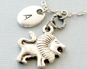 Lion Initial Necklace,Simba Lion King Necklace, Lion King Necklace,Lion Necklace,Lion Jewelry, Personalized Jewelry, Lion Pendant,Lion Charm