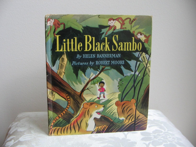 Vintage Book Little Black Sambo 1942 Dust Jacket