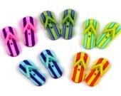 Jesse James Button Novelty Button Sew Through Flip Flops Flipflops Shower Sandals