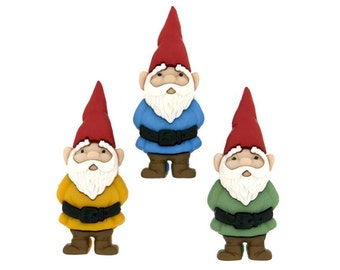 Jesse James Buttons Garden Gnomes Gnome Button Sewing Crafts