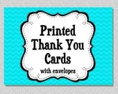 Printed THANK YOU cards includes envelopes , Note Cards, Set of 10