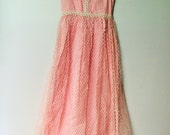 Vintage Pink Ladies Garment Workers Union Made Dress