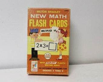 Milton Bradley New Math Multiplication Flashcards