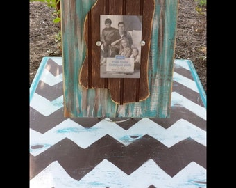 Distressed Mississippi Picture Frame.