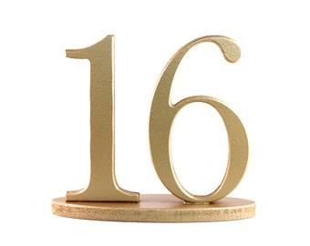 Gold Wedding Table Numbers for Weddings & Events Wedding Decor Gold Table Numbers, Wedding Signs, Custom Centerpiece Sets (Item - NUM120)