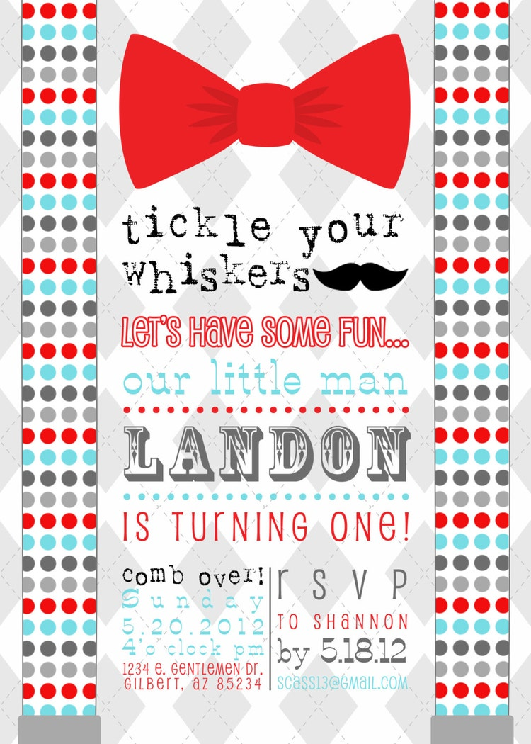 little man bow tie mustache bash printable by