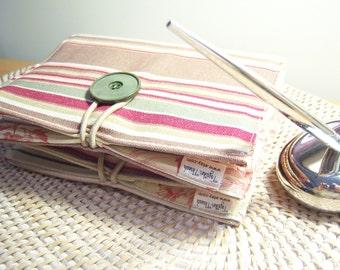 Mini Notepad Storage Coupon Keeper To Do List Portfolio Ralph Lauren Jumpseat Stripe Tobacco Decorators Fabric