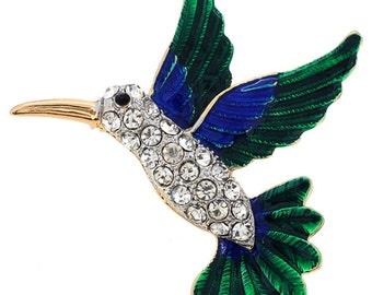 Enamel Green Hummingbird Brooch 1003942
