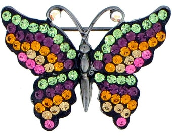 Multicolor Butterfly Pin 1010261