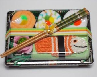 Baby Shower Sushi Baby Gift - Neutral Baby Gift - Orange Tawashi Fish