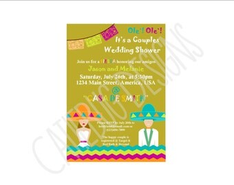 Couples Fiesta Wedding Shower Invitation