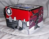 CUSTOM DECK BOX - Made To Order For Magic the Gathering Deck - Bad Moon - Hand-Painted One of a Kind