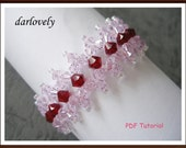 Swarovski Pink Red Sparkle Bracelet (BB075) - PDF Tutorial (Buy 3 get 1 Free)
