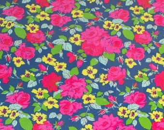 """LAMINATED Cotton  - Midnight Bouquet, 56"""" Wide, BPA & PVC Free"""