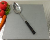 Chalfont USA - Kitchen Utensil - Solid Spoon - Stainless Black Handle