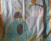 adorable elephant and turtle are  friends super soft blanket with matching plush turtle
