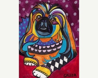 Pekingese Art dog  Art Print Poster by Heather Galler (HG748)