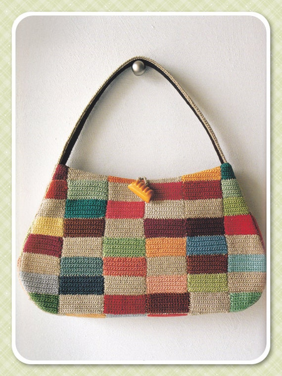 Knitting Pattern For Book Bag : Japanese Craft Book Crochet Bag Pattern Knit Bag Pattern
