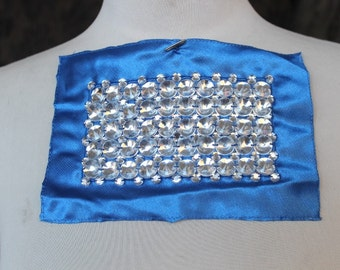 Cute   embroidered   applique  with  rhinestones