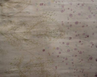 2007 Nani Iro Fuwari Fuwari  - Garden - Purple rose Japan  Japanese fabric Double Gauze 100cm