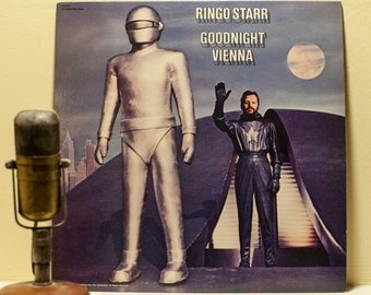 """ON SALE Ringo Starr(The Beatles) Vinyl Record Album 1970s Pop Rock And Roll Solo LP """"Goodnight Vienna""""(1980s Captiol re-issue w/""""No No Song"""""""