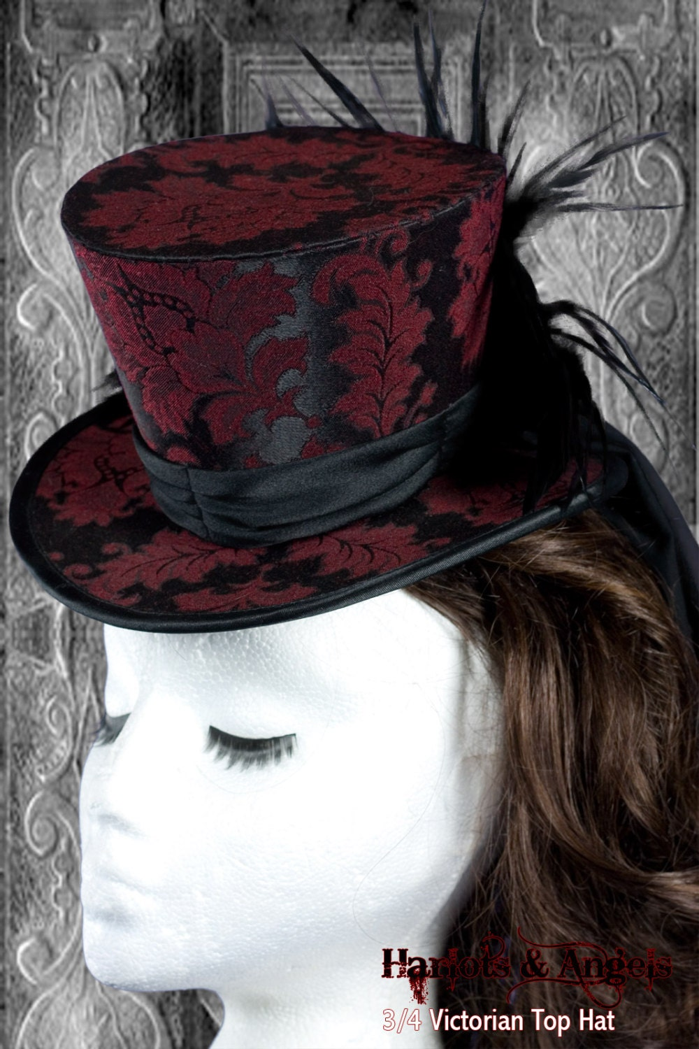 Victorian Steampunk Top Hat Millinery PDF Sewing Pattern. Prints on USA letter / A4 Instantly steampunk buy now online