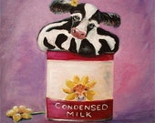 Condensed Milk - Whimsical Cows by Dyanne Parker
