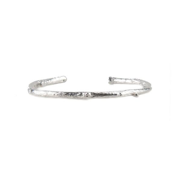 Sterling Silver Twig Cuff Bracelet