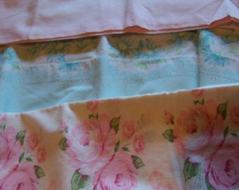sweet pastels standard pillow cases to repurpose