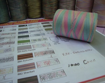 STAR VARIEGATED Cotton Quilting thread Choose your colors 4 1200yard spools