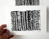 dots paper linocut original black white monochrome rain abstract composition contemporary fine art scandinavian