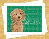 Dog Christmas Cards - Goldendoodle Wishing You a Season of Wags and Good Cheer - Happy Holidays Cards