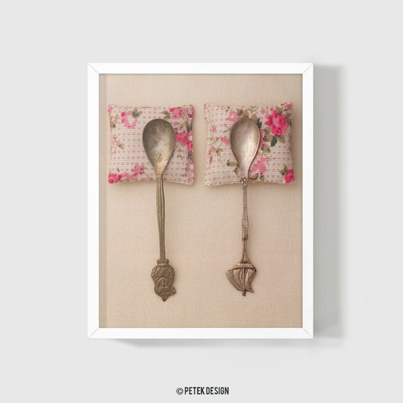 Spooning Art Photography 8x10 Whimsy Romantic Anniversary Wedding Gift, Rustic beige pink Shabby Cottage, Bedroom Decor