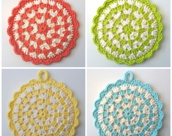 Mix and Match Crochet Pot Holders (Set of 4)