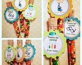 Science party favors, science party test tube, laboratory party, monster party