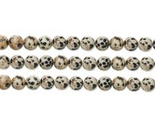 Round Dalmatian Jasper Beads 8mm 16 Inch Strand