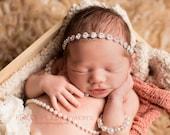 Newborn Rhinestone headband, halo headband, bling headband, newborn photography prop