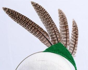 Feather Headband Green Triangle