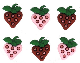 Strawberry Buttons 6pc