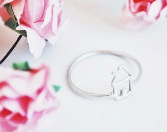 home ring- sterling silver- free shipping