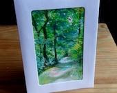 Original One of a Kind Handmade Greetings Card Handpainted Original
