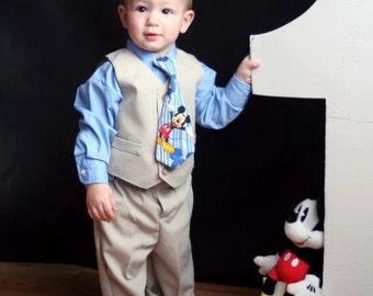boys tie, boys necktie, baby tie, baby necktie, mickey tie, mickey necktie, tie, necktie, boy tie, boy necktie, boys clothing, boys necktie