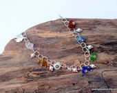 Sea Glass Bracelet - Sterling Bracelet - Charm Bracelet - Lake Erie Beach Glass