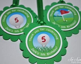 12 Favor Tags - Golf Birthday Decorations