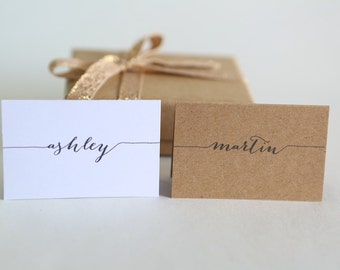 PLACE CARDS || label tent cards || wedding engagement