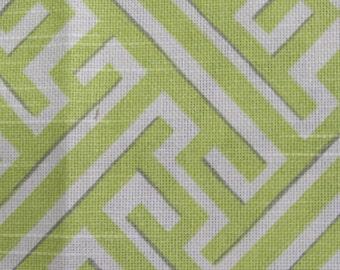 TRELLIS SPRING yellow green designer, drapery/bedding/upholstery fabric